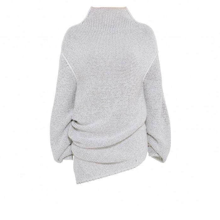 Pull à col cheminée fluide moucheté, Sweater, STELLA MCCARTNEY, 685€